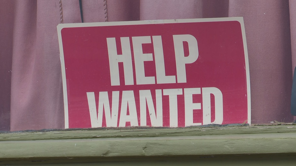 """""""Help wanted"""" sign"""