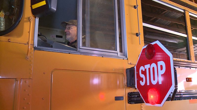Dean Chesky hits one-million-mile mark driving school buses for the Flambeau School District.