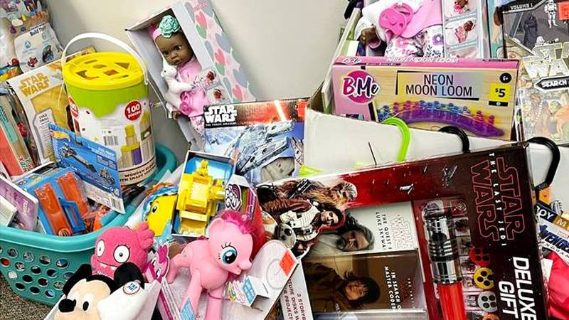 Shepeard Community Blood Center collected unopened toys to be donated to the Children's...