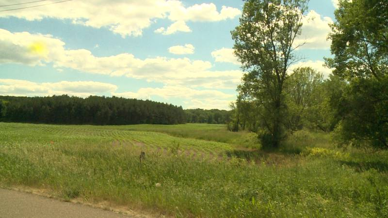 The site of the proposed Orchard Hills development in the Town of Washington, Wis.