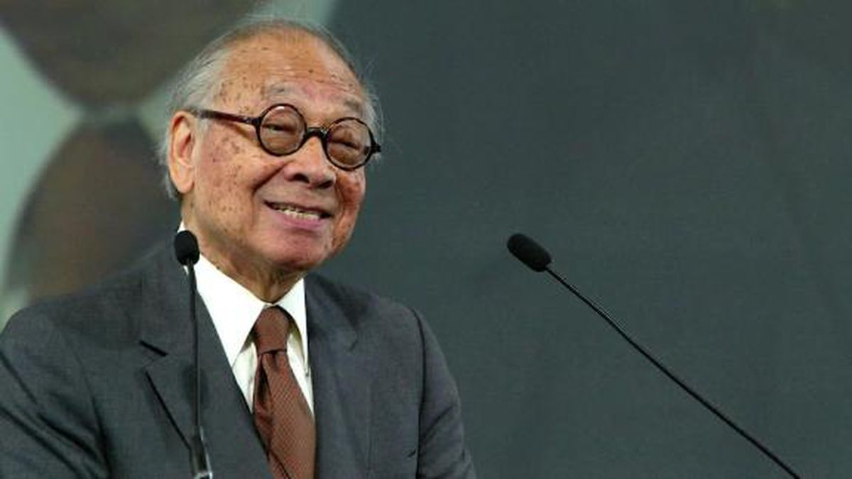 Architect I.M. Pei, who died aged 102, was known for his sleek, geometrical designs. / Source: CNN