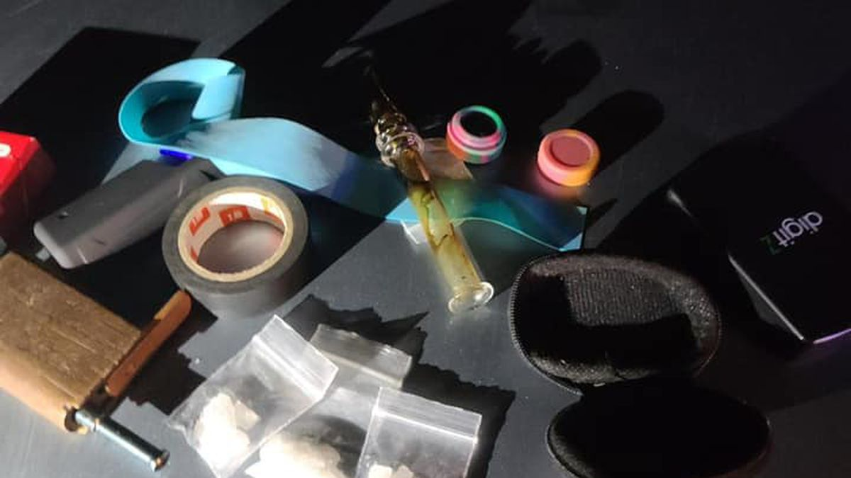 Drugs and paraphernalia were found during a traffic stop in the City of Thorp, Wis.