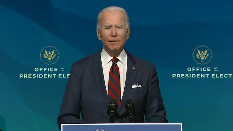 President-Elect Joe Biden talks about the historic precedence of his diverse cabinet in...
