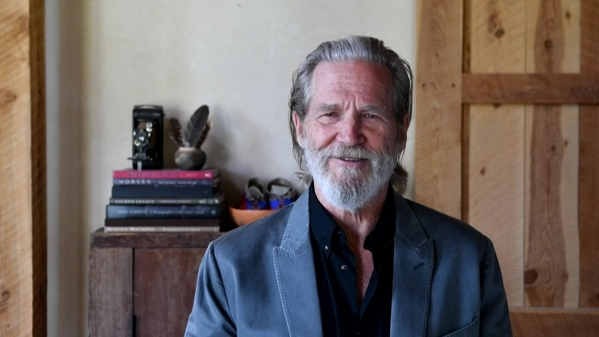 Jeff Bridges presents the Emmy for Outstanding Guest Actress In A Drama Series during the 2020...