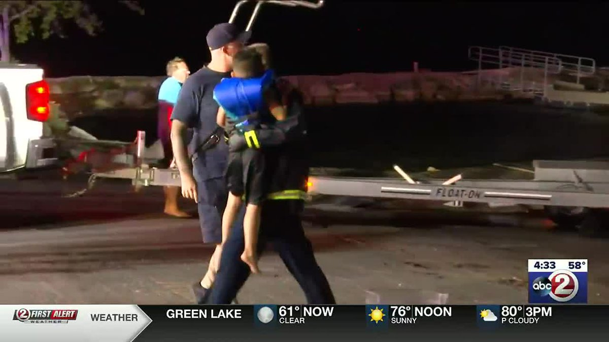 People rescued from boat capsize