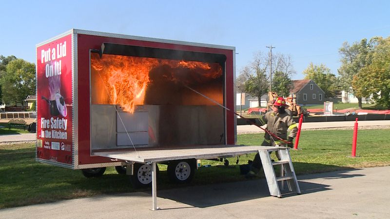 The La Crosse Fire Department held a grease fire demonstration Monday teaching the proper way...