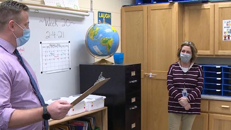 Wendy Ferstenou honored as Sherman Elementary Golden Apple recipient