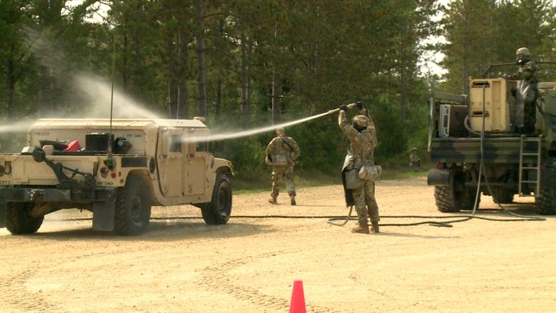 Thursday marked the second mission of three at Fort McCoy for the 318th Chemical Company.