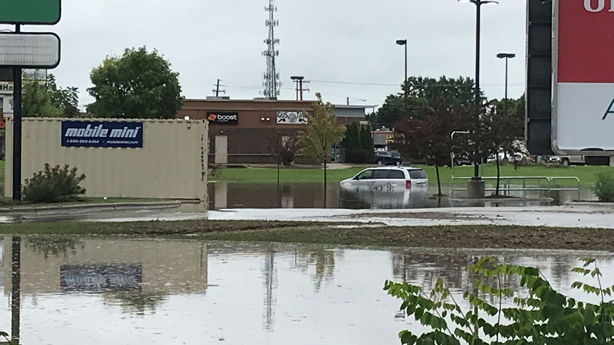 Green Bay east side flooding. Sept. 11, 2019. (WBAY Photo)