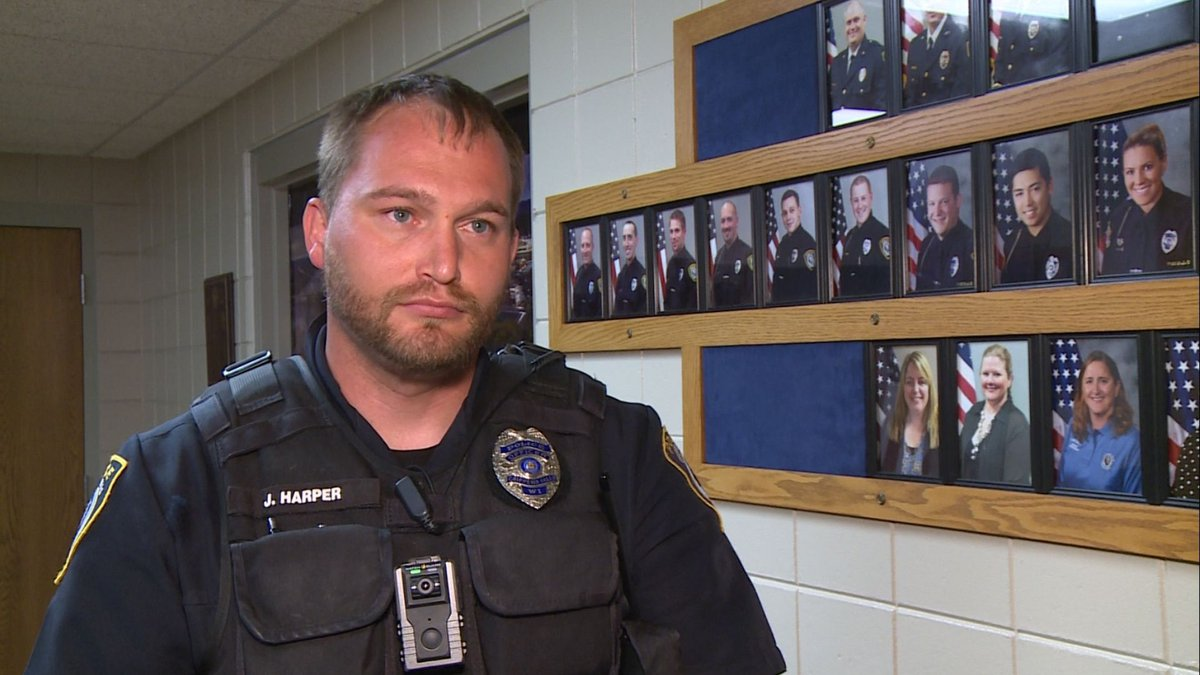 Chippewa Falls Police Dept. Officer James Harper discusses a recent increase in catalytic...