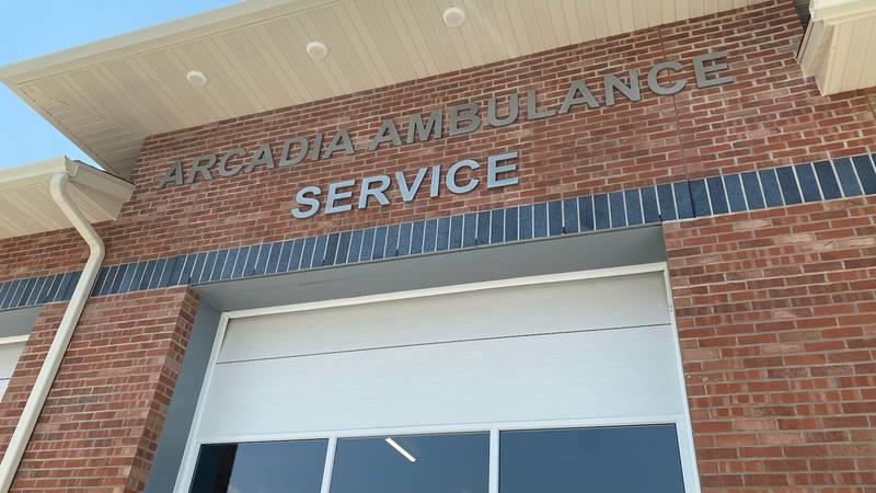 Arcadia Ambulance Service opens a new facility on Sunday.