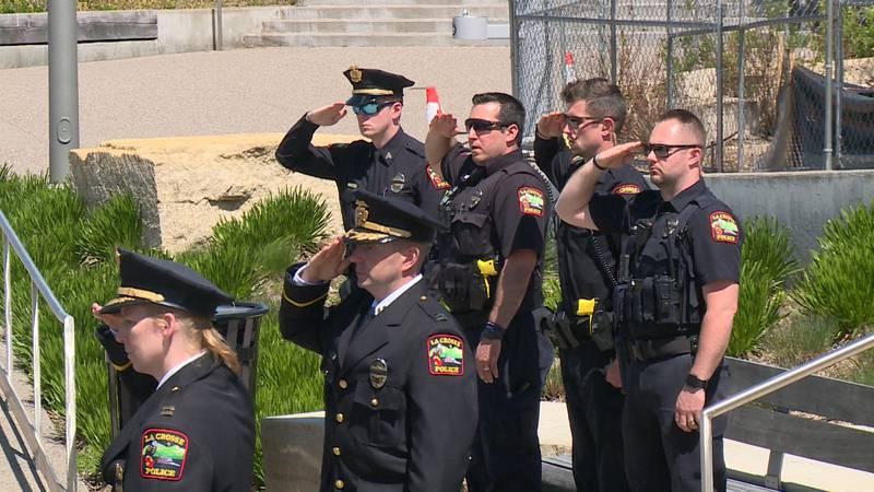 Law enforcement in La Crosse pay tribute to fallen police officers