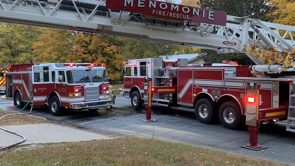 The Menomonie Fire Department reported to a house fire where a child was trapped inside.