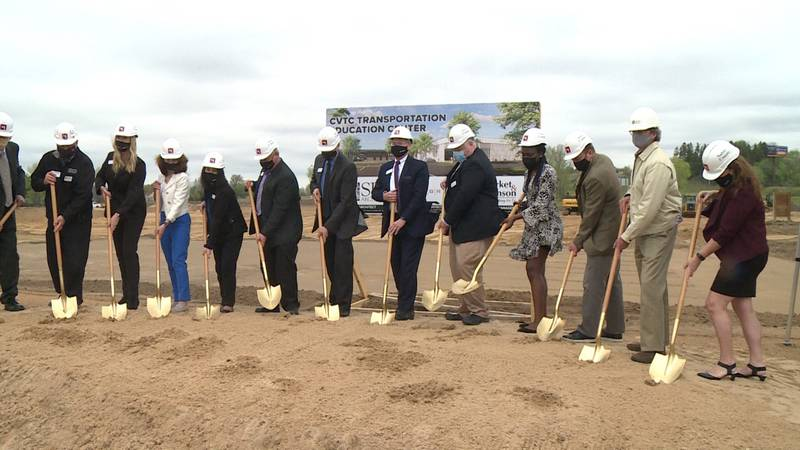 Chippewa Valley Technical College broke ground on their transportation education center Monday...