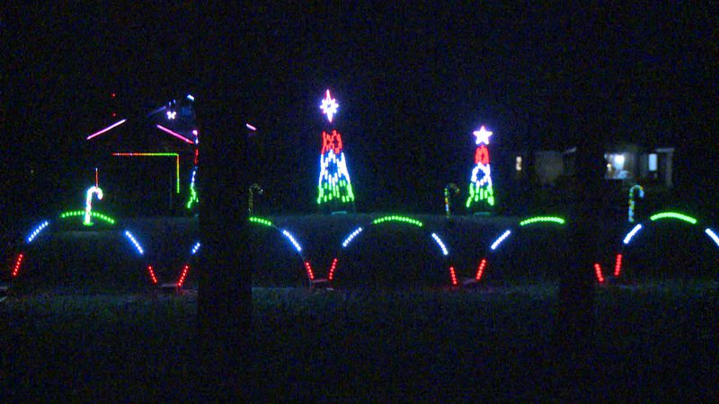 The Wendt's light show in Altoona, Wis.