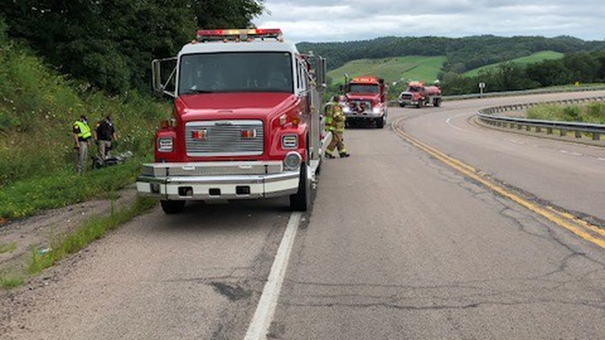 A man from Minnesota is dead after a speed-induced crash in Glencoe Township.
