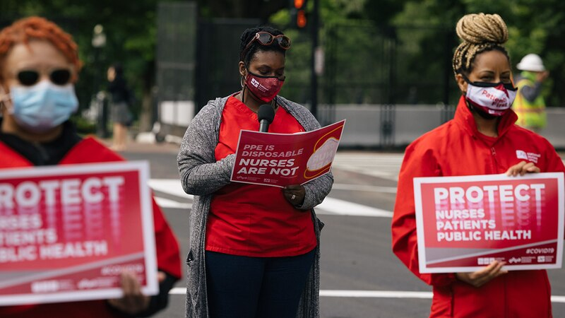 The National Nurses Union is urging the Centers for Disease Control and Prevention to reinstate...