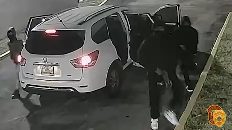 Chilling new surveillance video shows armed & masked suspects moments before they carried out a...