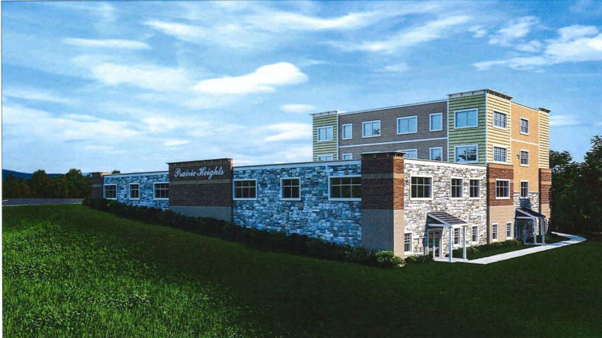 A rendering of the Prairie Heights Residences project provided to the Eau Claire City Council...