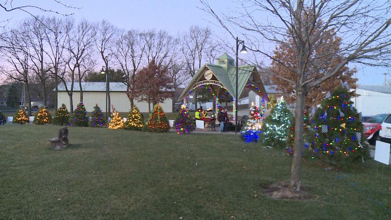 The village kicked off its inaugural Holidays in the Park tree decoration contest on Friday...
