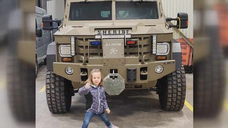 After a hard year, the officers said Mia's donation was the pick-me-up they had needed.