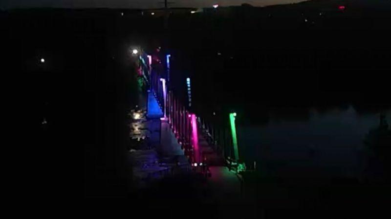 LGBTQI bridge lighting