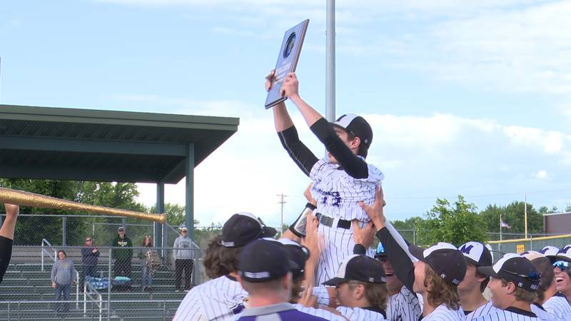 Eau Claire Memorial wins the sectional baseball title.