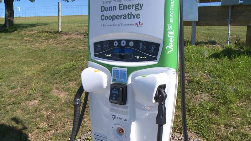 Electric vehicle charger installed in Chippewa Co.
