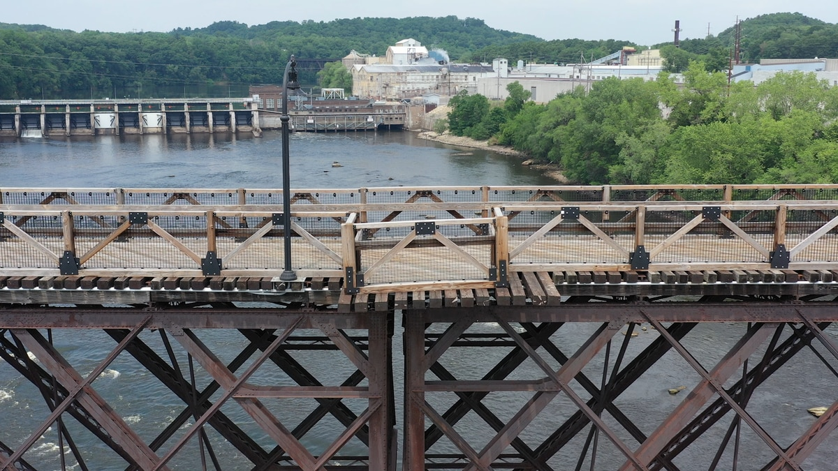 High Bridge in Eau Claire is closed due to damage.