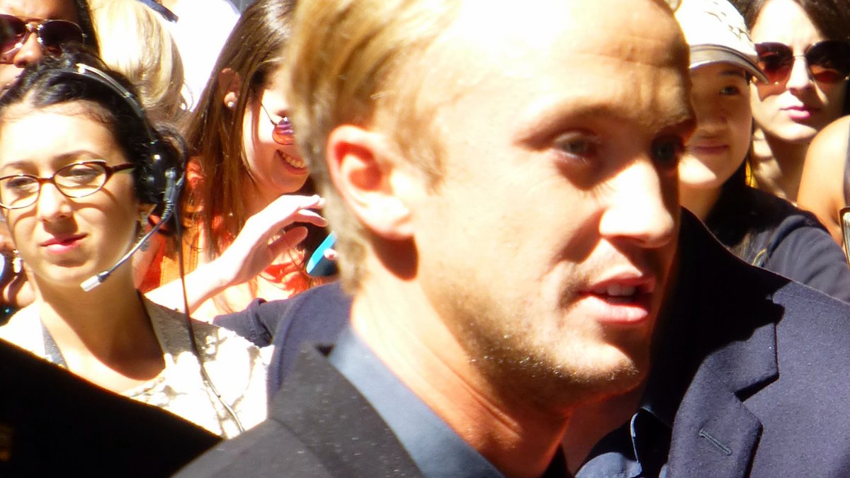 """Actor Tom Felton, best known for his portrayal of Draco Malfoy in the """"Harry Potter"""" movies."""
