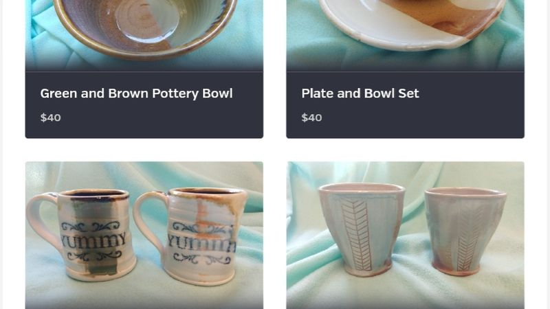 CRHS pottery auction