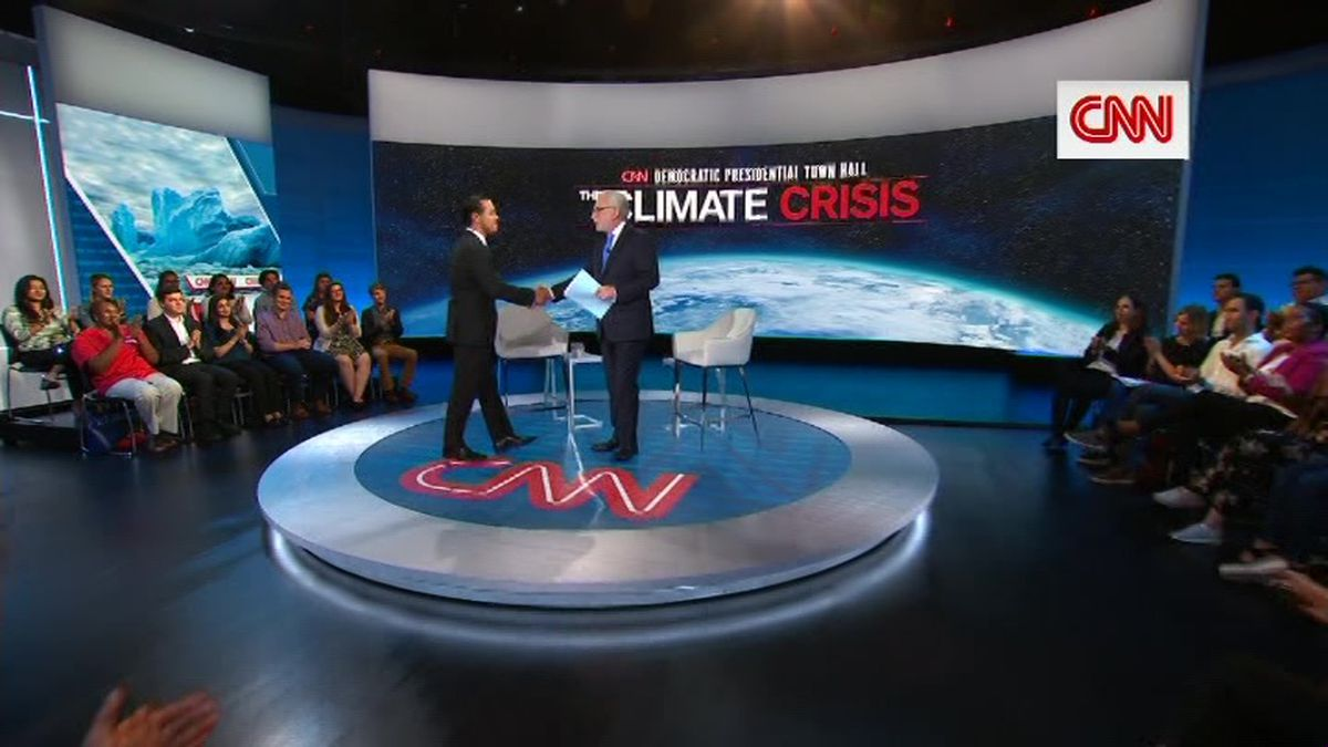 CNN hosted a series of town halls Wednesday with Democratic presidential candidates on climate change. (Source: CNN)