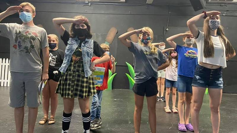 """Rehearsal of The Menomonie Theater Guild's Summer Youth Production of """"Honk!, JR."""""""