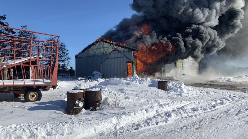 Sparta Area Fire District responds to shed fire.