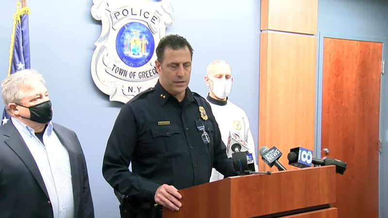 Greece Police Chief Andrew P. Forsythe said two men broke into a foster home and took two...