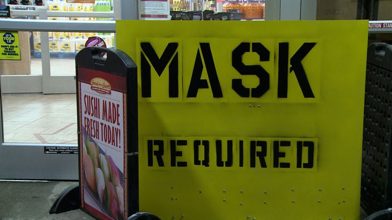 Masks required at businesses following Gov. Evers' issuing of a statewide mask mandate.