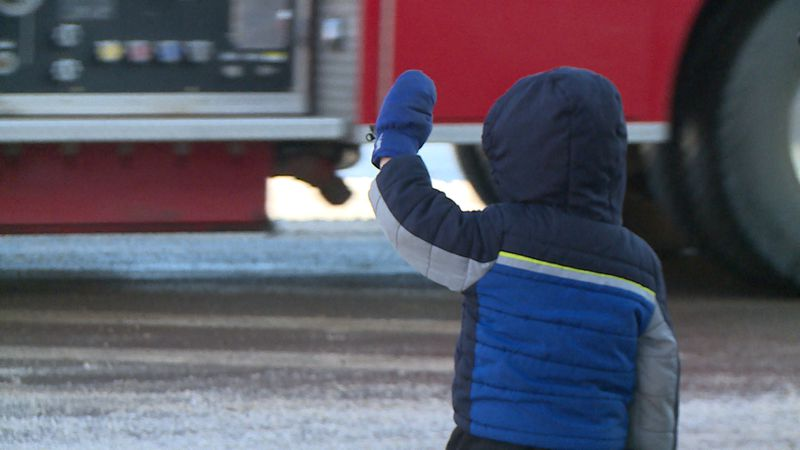 A fire truck procession was held Saturday afternoon to honor fire chief Donald Kittelson who...