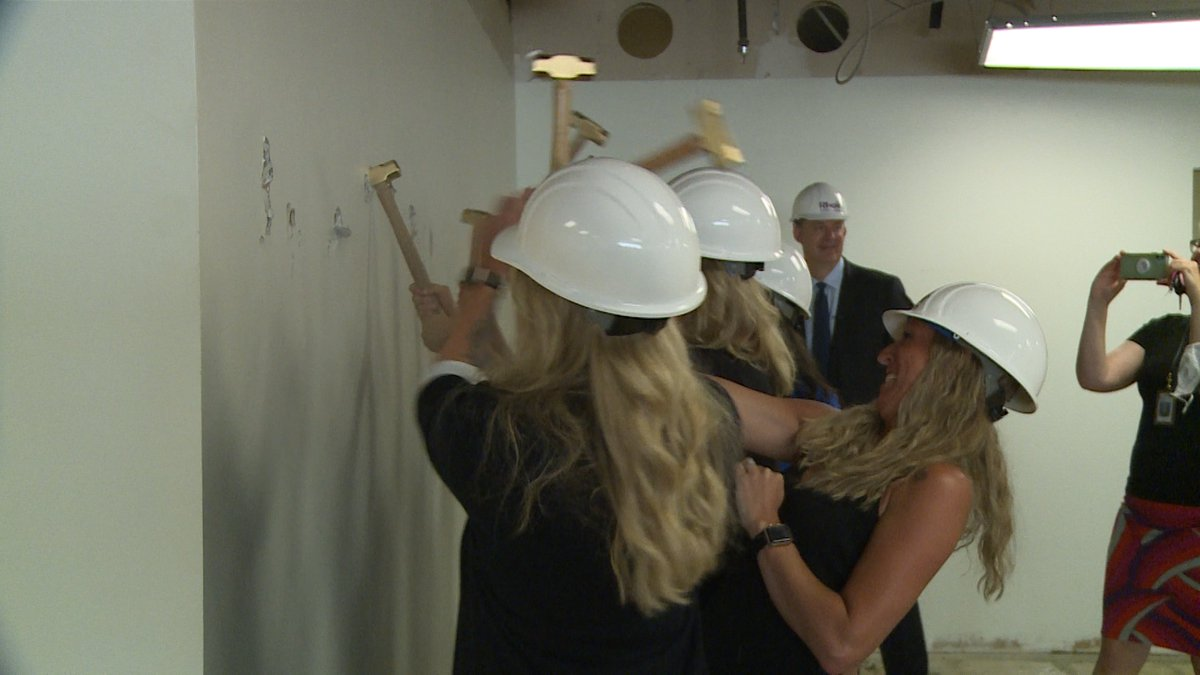 'breaking ground' on the new renovated space