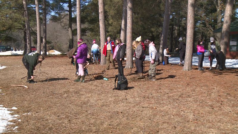 About 20 girls took part in a first-ever council-wide female scouting event at Camp Decorah...