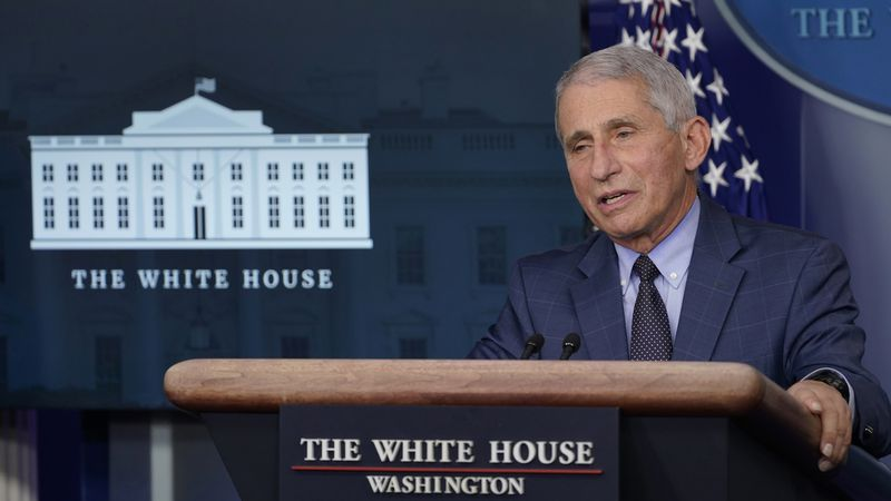 FILE - In this Nov. 19, 2020 file photo, Dr. Anthony Fauci, director of the National Institute...