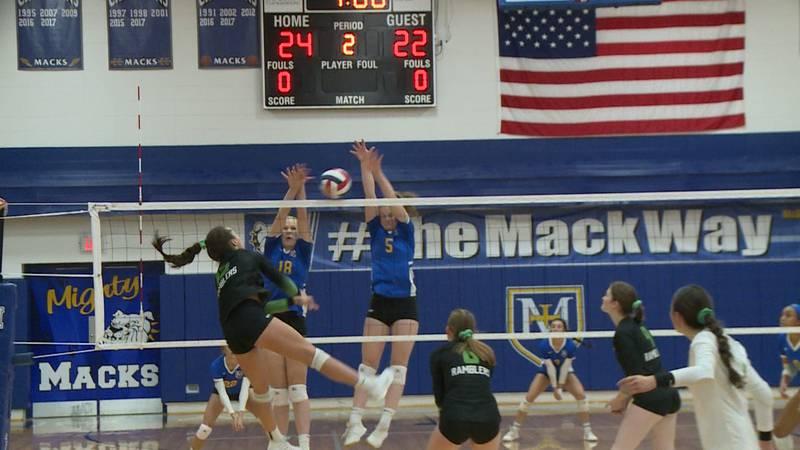 Regis vs. McDonell volleyball