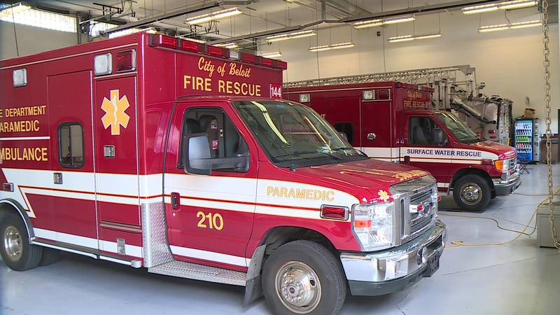 The City of Beloit sent three firefighters and an engine across the state line Monday.