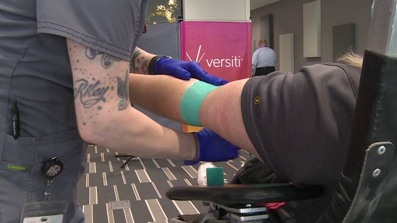 Versiti Blood Center of Wisconsin hosting  a blood drive at Marshfield Clinic Health System in...