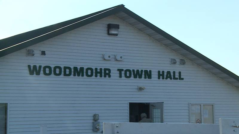 The Town of Woodmohr Town Hall in Chippewa County, Wis.