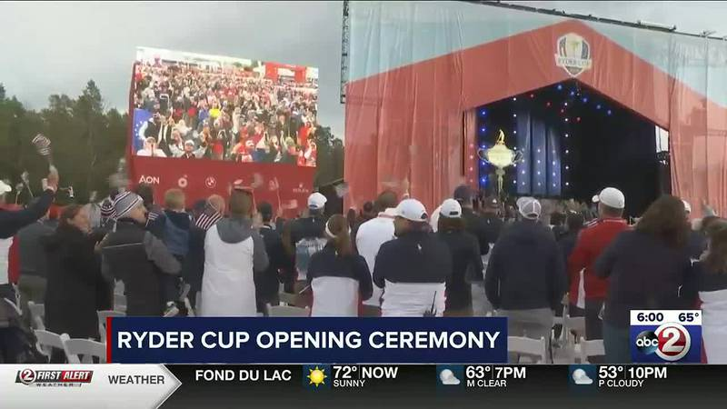 Fans gather for Ryder Cup opening ceremony