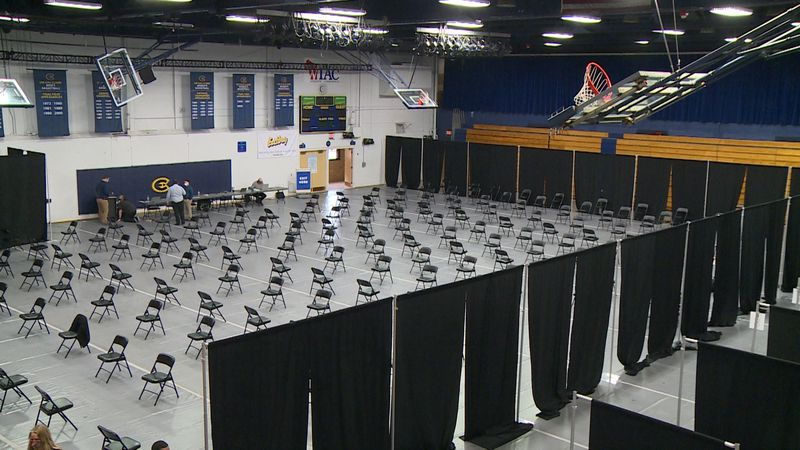 Zorn Arena transitions to a federally funded vaccine clinic.