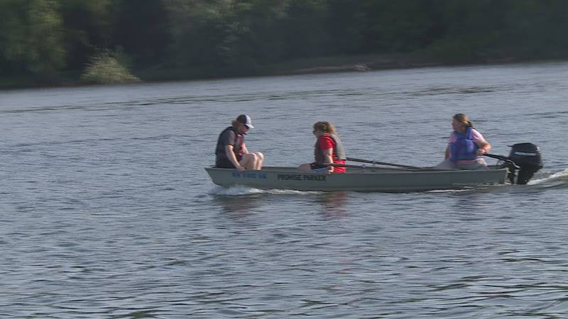Parker's family and volunteers are focusing on a 2-mile stretch of river where Parker was...
