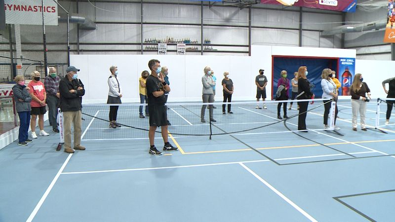The new sports surface will be used for everything from basketball and pickleball, to...
