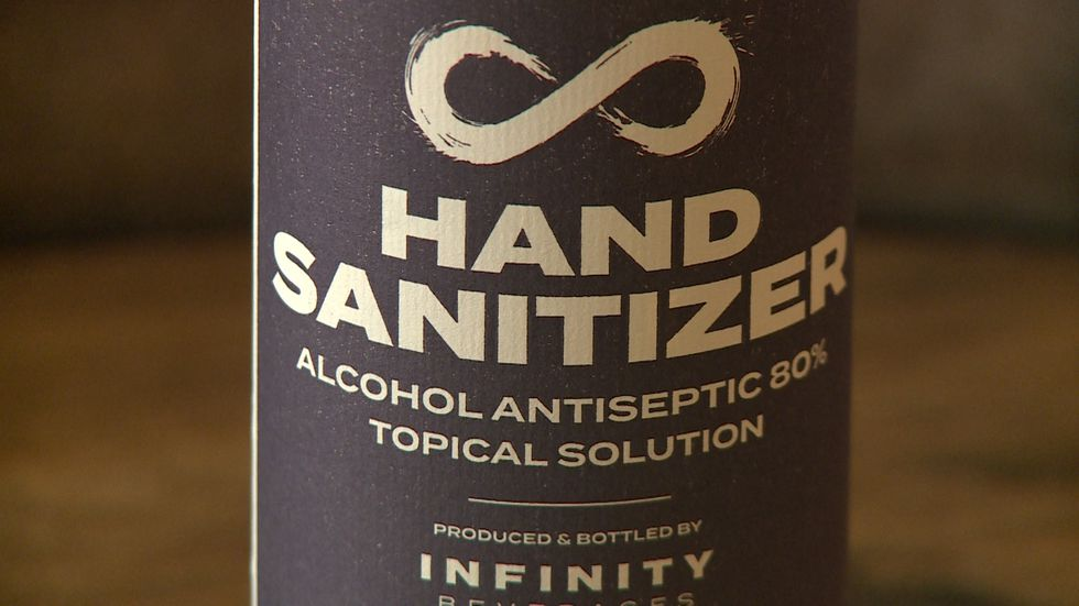 Infinity Winery and Distillery in Eau Claire is making safe hand sanitizer due to COVID-19.