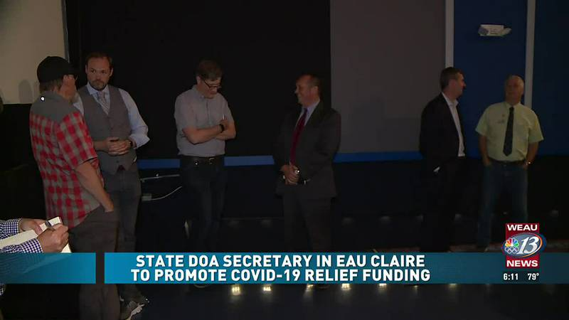 State DOA Secretary in Eau Claire to Promote COVID-19 Relief Funding